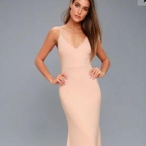 Lulus 'Infinite Glory Blush Pink' Maxi Dress (S)